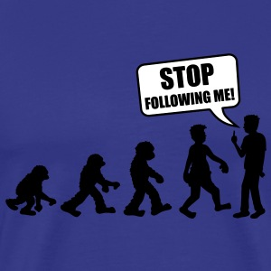 stop_following_me T-skjorter - Premium T-skjorte for menn