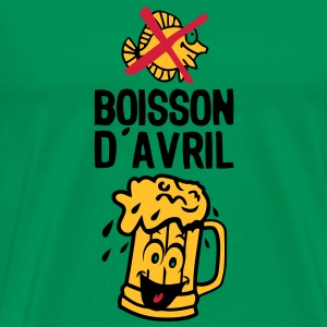 boisson avril biere alcool verre smiley Tee shirts - T-shirt Premium Homme