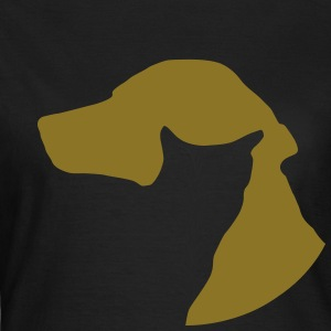 cat dog Gold Metallic Print!  - Women's T-Shirt