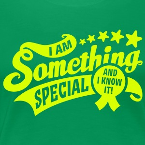 Frauen Girlie-Shirt I am something special - and i know it! + neon gelb - Frauen Premium T-Shirt
