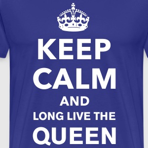 Keep Calm and Long Live the Queen - Men's Premium T-Shirt