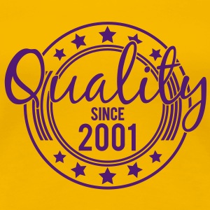 Birthday - Quality since 2001 (dk) T-shirts - Dame premium T-shirt