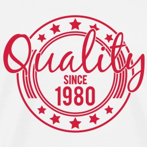 Birthday - Quality since 1980 (uk) T-Shirts - Men's Premium T-Shirt