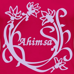 Lotus Flower Ahimsa T-Shirts - Frauen Premium T-Shirt