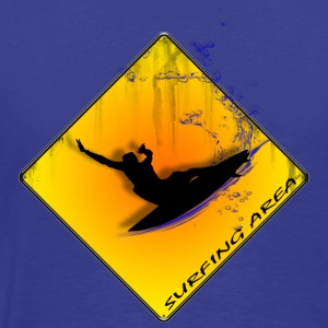 Surfing Area Backside - T-shirt Premium Homme