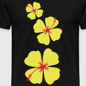single three hibiscus tropical flowers T-Shirts - Men's Premium T-Shirt