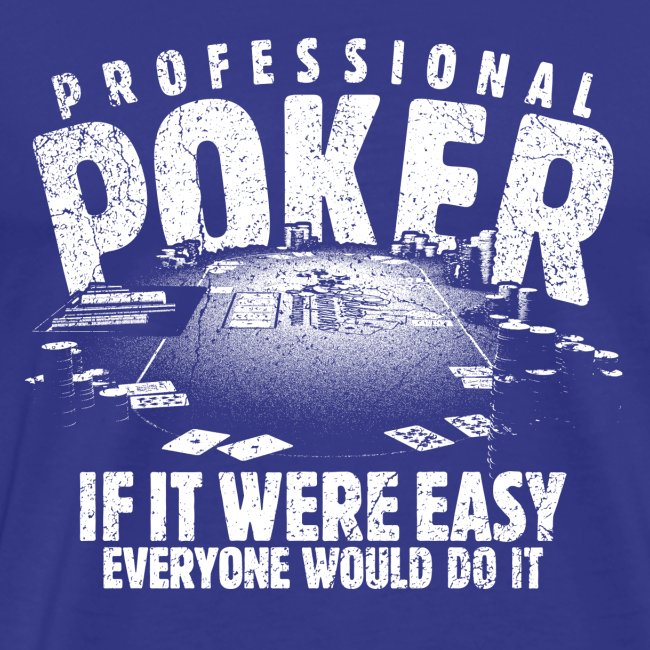 Professional Poker white (oldstyle)