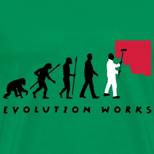 evolution_painter_042012_a_3c T-Shirts - Men's Premium T-Shirt