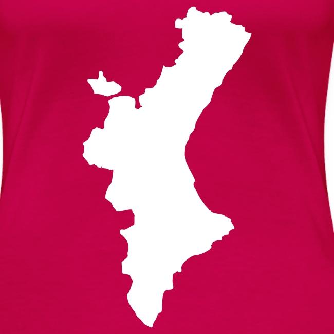 Mapa valencià amb relleu - Xica