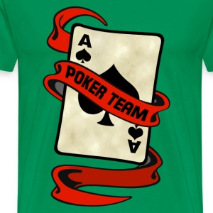 poker card ribbon team Tee shirts - T-shirt Premium Homme