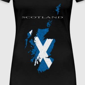 Scotland: Map - Women's Premium T-Shirt