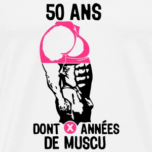 50 ans musculation bodybuilding anniver Tee shirts - T-shirt Premium Homme