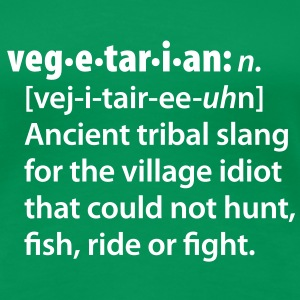 Vegetarian definition dictionairy T-Shirts - Women's Premium T-Shirt