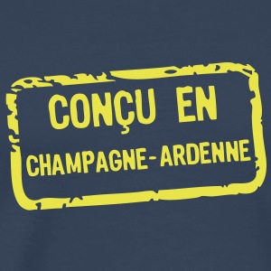 concu etiquette champagne ardenne Tee shirts - T-shirt Premium Homme