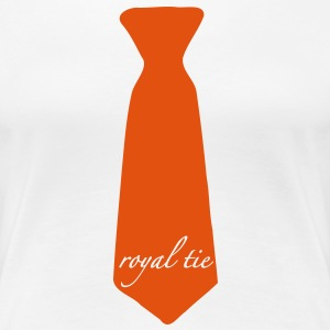 royal tie T-shirts - Vrouwen Premium T-shirt