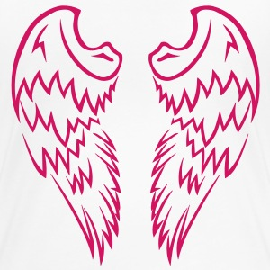 Pink Tribal Tattoo Angel Wings - Women's Premium T-Shirt
