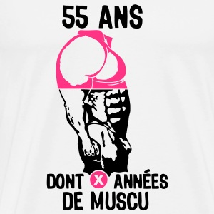 55 ans musculation bodybuilding anniver Tee shirts - T-shirt Premium Homme
