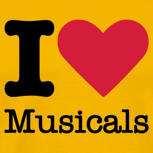I Love Musicals T-Shirts - Men's Premium T-Shirt