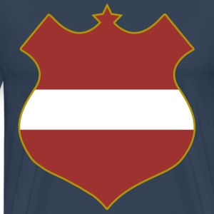 latvia shield T-Shirts - Men's Premium T-Shirt