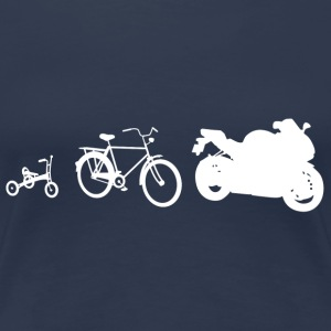 Evolution Bike weiss T-Shirts - Frauen Premium T-Shirt