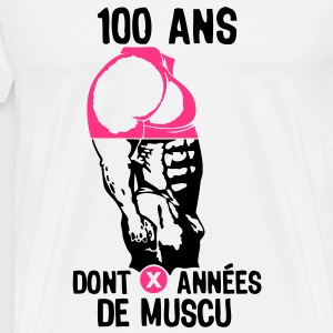 100 ans musculation bodybuilding anniver Tee shirts - T-shirt Premium Homme