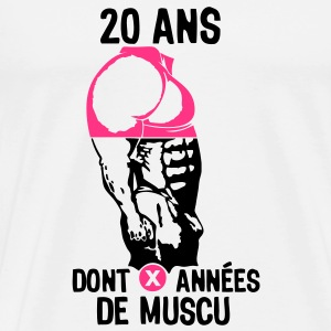 20 ans musculation bodybuilding anniver Tee shirts - T-shirt Premium Homme