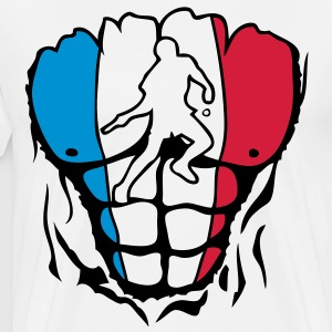 pingpong france corps muscle drapeau Tee shirts - T-shirt Premium Homme