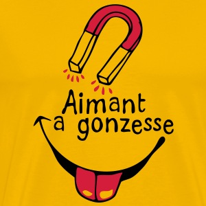 aimant gonzesse1 femme fille girl Tee shirts - T-shirt Premium Homme