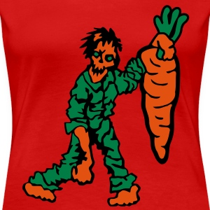 Zombie with Carrot T-Shirts - Women's Premium T-Shirt