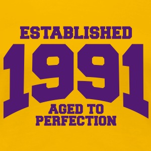 aged to perfection established 1991 (sv) T-shirts - Premium-T-shirt dam