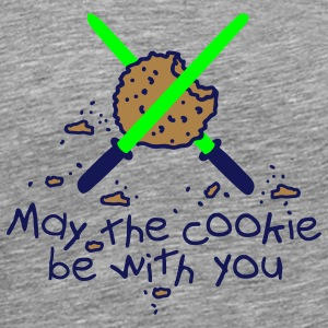 May the cookie be with you T-shirts - Herre premium T-shirt