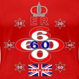 Queens diamond jubilee 60 years stars T-Shirts - Women's Premium T-Shirt