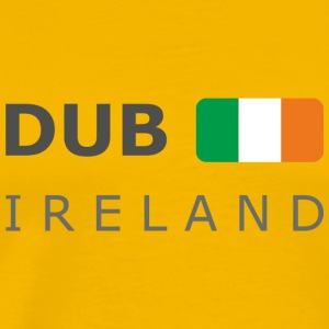 Classic T-Shirt DUB IRELAND dark-lettered - Premium T-skjorte for menn