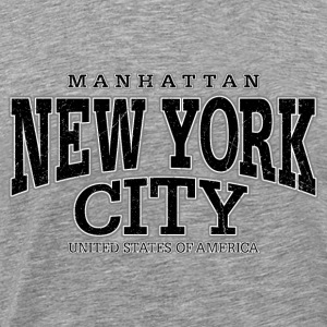New York City Manhattan black (oldstyle) - Männer Premium T-Shirt