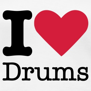 I Love Drums T-Shirts - Frauen Premium T-Shirt