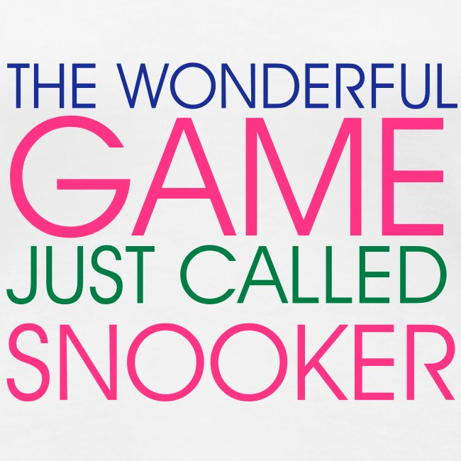 WONDERFUL GAME SNOOKER