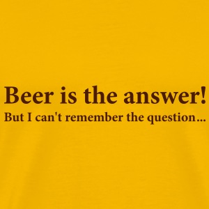 183_beer_is_the_answer T-shirt - Maglietta Premium da uomo