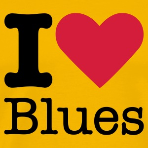 I Love Blues T-Shirts - Men's Premium T-Shirt
