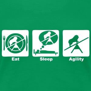 agility 302 eat sleep play  Tee shirts - T-shirt Premium Femme