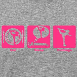 patinage artistique eat sleep play  Tee shirts - T-shirt Premium Homme