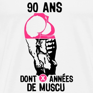 90 ans musculation bodybuilding anniver Tee shirts - T-shirt Premium Homme