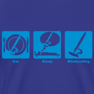 windsurfing eat sleep play  Tee shirts - T-shirt Premium Homme