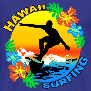 hawaii surfing design Tee shirts - T-shirt Premium Homme