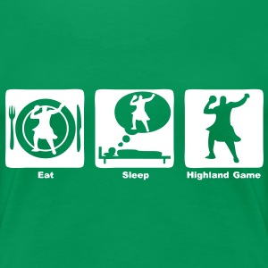 highland game eat sleep play  Tee shirts - T-shirt Premium Femme