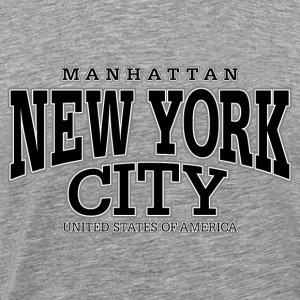 New York City Manhattan black - Männer Premium T-Shirt