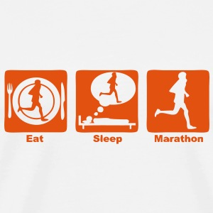 marathon 30 eat sleep play  Tee shirts - T-shirt Premium Homme