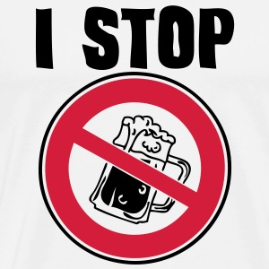 i stop drink beer panel interdiction panneau  Tee shirts - T-shirt Premium Homme