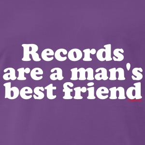 Records are a man's best friend Black Tee shirts - T-shirt Premium Homme