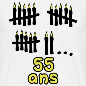 55 ans bougies printemps Tee shirts - T-shirt Homme