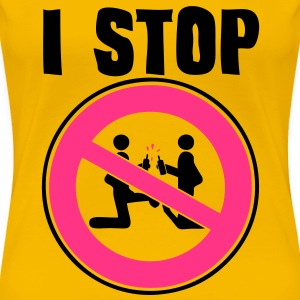 i stop sexual act2 panneau interdiction Tee shirts - T-shirt Premium Femme